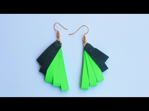 DIY | How to Make  Quilling Paper Ear Rings at Home By Srujana TV