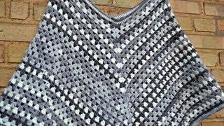 Tuto Poncho 1 Piece Sans Couture Au Tricot Facile Knit Poncho