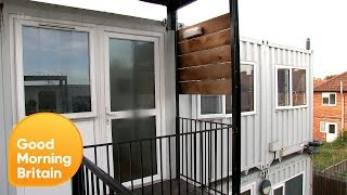 Shipping Containers Used to House Homeless Children in Ealing | Good Morning Britain