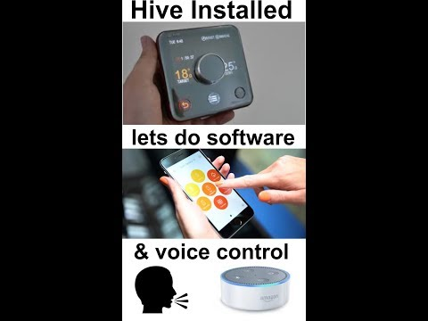 Hive thermostat Android software install and Alexa Amazon Echo