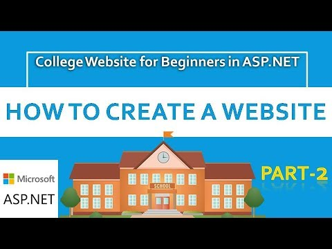 How to create ASP.NET Website for Beginners | College Website| #CODERBABA | Part-2 Hindi