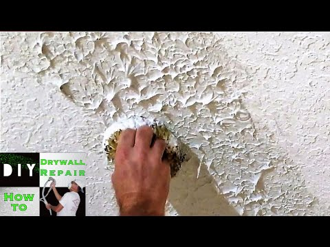 DIY- How to Match Knockdown texture with the Knockdown Texture Sponge