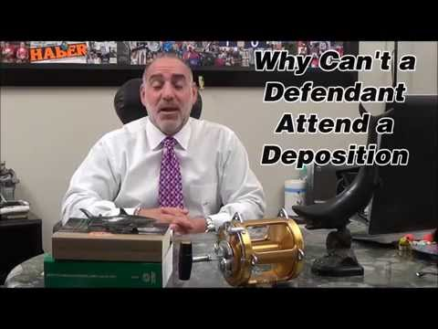 Can a Criminal Defendant Attend a Deposition in FL? Michael A Haber PA Miami Criminal Attorney