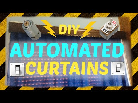 ➪ DIY: AUTOMATED CURTAINS for 3$