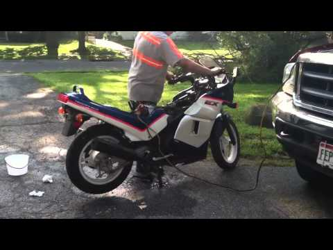 1992 Kawasaki ex500 first start