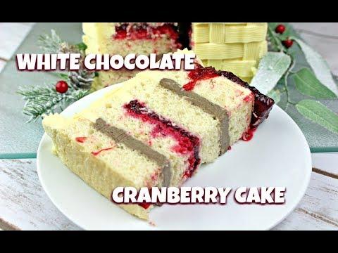 White Chocolate Cranberry Cake || Gretchen's Bakery