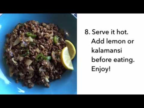How to cook BEEF SISIG   Filipino Dish   Quick & Easy
