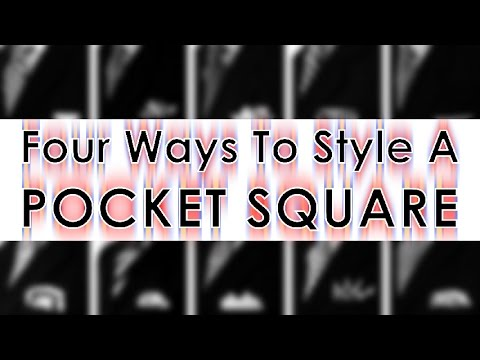 Four Ways To Style A Pocket Square