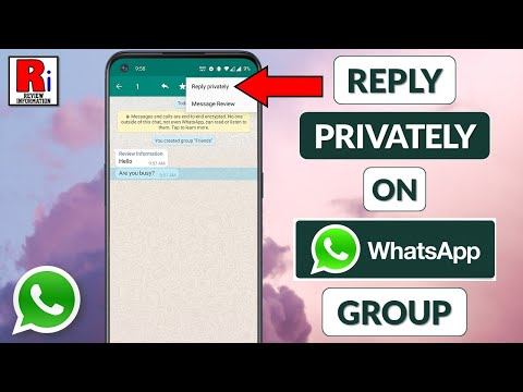 REPLY PRIVATELY IN WHATSAPP GROUP CHAT
