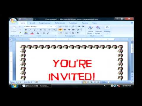 Computer Training : How to Make Printable Invitations