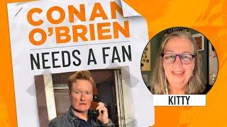 Conan Workshops His Obituary With A Fan   Conan O'Brien Needs a Fan