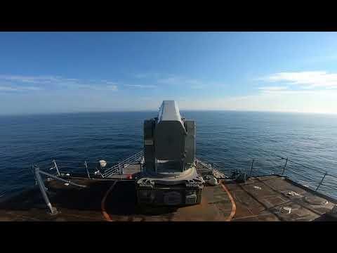 USS Gunston Hall Fires RAM Missile
