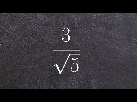 Algebra 2 - Simplify a radical expression by multiplying by square root of five on top and bottom