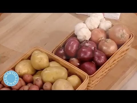 How to Store Vegetables- Martha Stewart