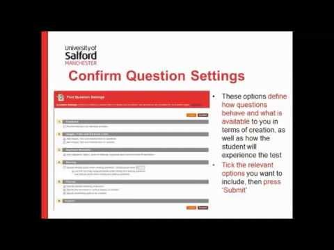 Creating Tests & Question Pools in Blackboard Tests