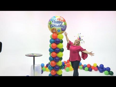 Birthday Color Extravaganza Balloon Tower ~ DIY Tutorial