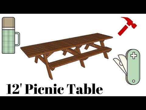 12' Picnic Table Plans