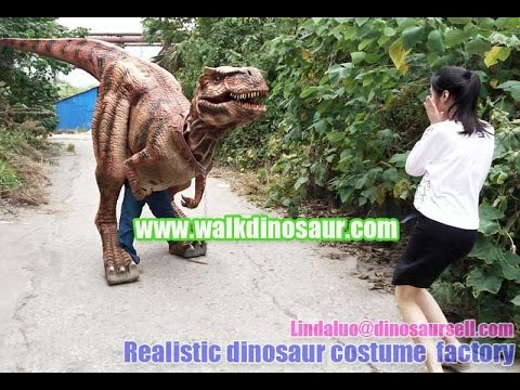how to make a realistic dinosaur costume