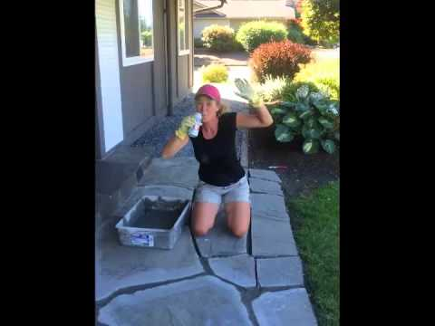 DIY Flagstone Mortar Removal and Repair