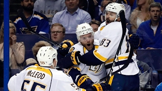 Fiddler's third period tally lifts Predators over Blues in Game 1
