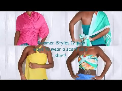 Summer Styles: 11 NEW Ways toTie a Scarf Into a Shirt