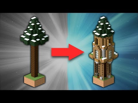 How to Build a Spruce Treehouse [#2] | Minecraft