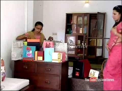 Diwia Thomas' paper bag making unit  - Madhuram jeevitham   ithalukal - 3rd October 2014