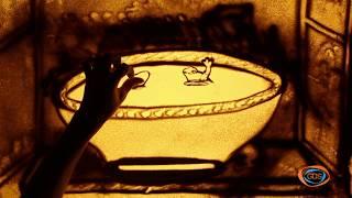 ქვიშის სამყარო - ორი ბაყაყი და ქილა რძე (with English subtitles) | ქვიშაზე ხატვა