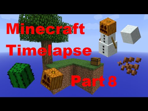 Pumpkin, Cactus, Cacao And Snow Farms!! - Minecraft - Timelapse - Skyblock - Part 8