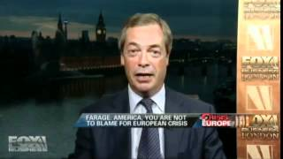 """Nigel Farage: """"The Guy is a Bloody Idiot & Communist"""" Fox Business 06-20-12"""