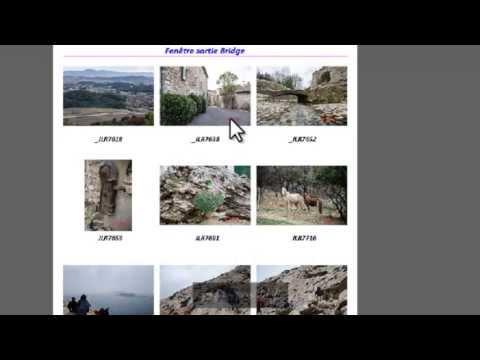Adobe Bridge - 04 - Espace de Travail (Fenêtre Sortie) Créer une planche PDF de photos
