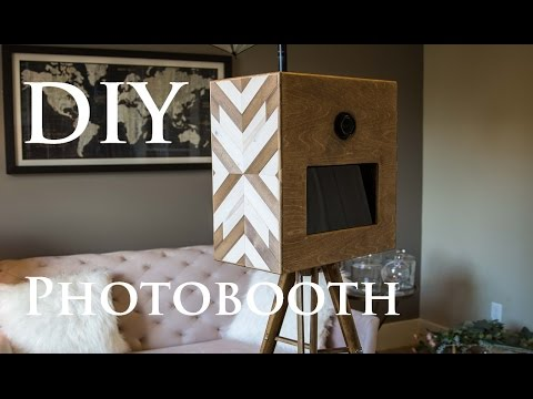 DIY Geometric Wood Photobooth