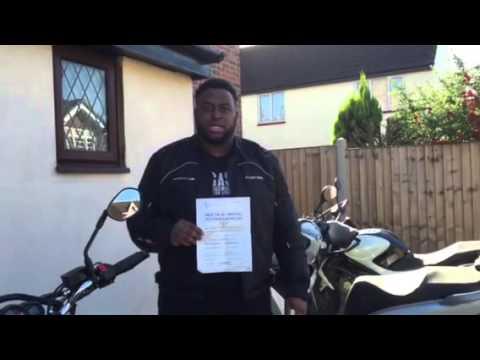 John Thompson... Passed Module 2 motorbike test