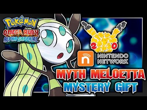 Pokémon Omega Ruby & Alpha Sapphire - 20th Anniversary Meloetta Wi-Fi Mystery Gift Event!