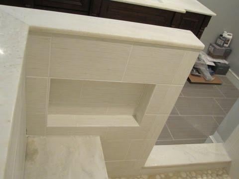 Ceramic Tile Master bathroom shower stall