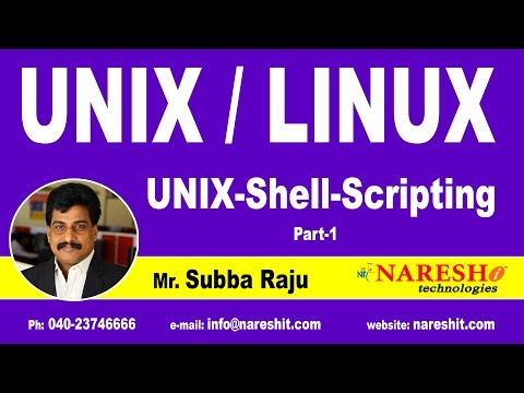 Unix Shell Scripting Part 1 | UNIX Tutorial | Mr. Subba Raju