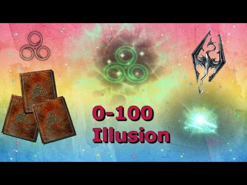 Skyrim How To Get Level 100 Illusion FAST/EASY!!!