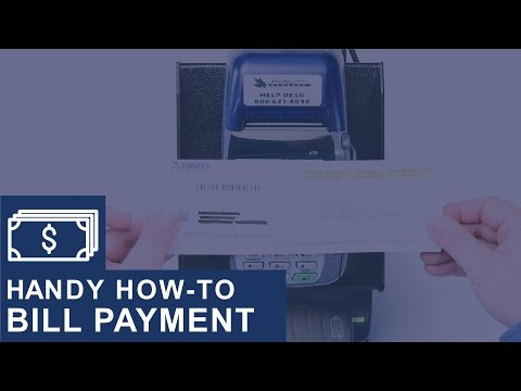 Processing a Cash Bill Payment