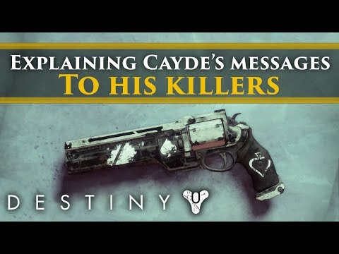 Destiny 2 Forsaken Lore - The messages Cayde left for his killers! Ace in the Hole mission!