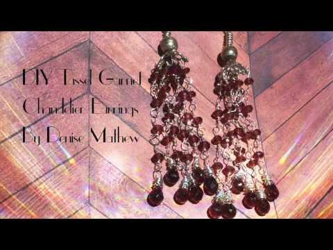 Academy Awards, Oscars Inspired Tassel Chandelier Earrings by Denise Mathew
