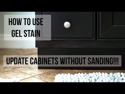How to Use Gel Stain - Update Cabinets Without Sanding