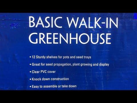 Walk-In Greenhouse Setup