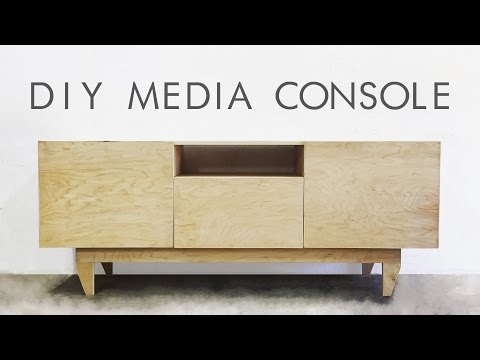 DIY Mid-Century Modern Credenza / Console Table | Modern Builds | EP. 48