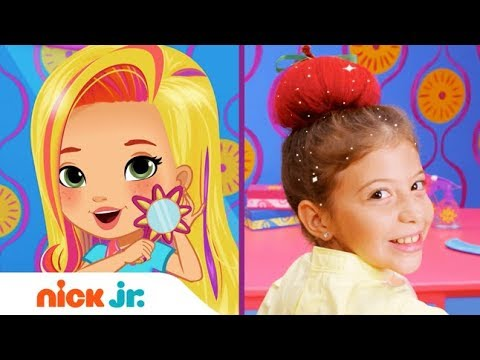 How to Make an Apple Updo 🍎  Style Files Hair Tutorial | Sunny Day | Nick Jr.