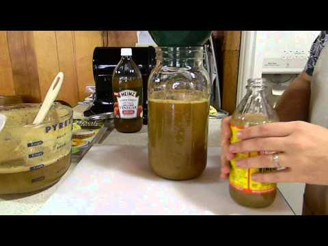 Homemade Apple Cider Vinegar (plus fruit fly trap)