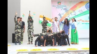 The Real Heroes   Independence Day Dance Act   B.S.Memorial School