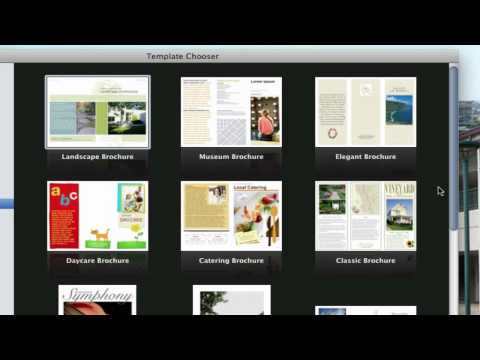use pages on macs to create a pamphlet (VIEW DESCRIPTION)
