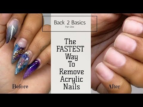 How to - Soak Off Acrylic Nails 💅💅