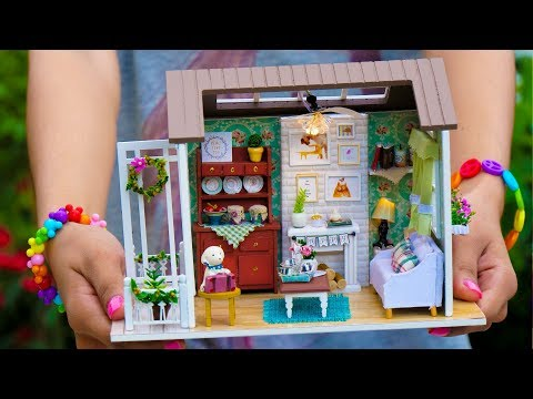 DIY Miniature Doll House Wooden Lodge