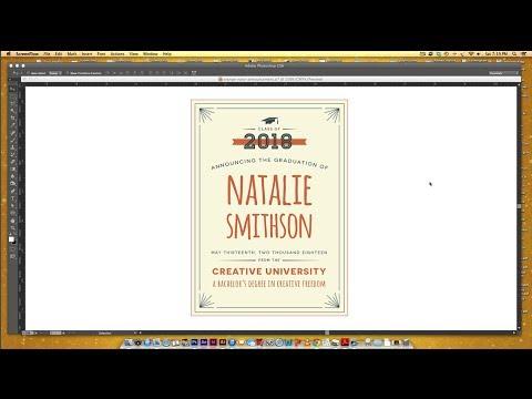 Create a Retro Graduation Announcement in Illustrator Part 2